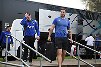 Matt Banahan and the rest of the Bath Rugby team arrive at Allianz Park. Aviva Premiership match, between Saracens and Bath Rugby on April 15, 2018 at Allianz Park in London, England. Photo by: Patrick Khachfe / Onside Images