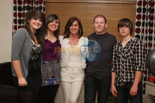 Stephen Farrell with his family Patricia, Rachel, Nadine and Dylan celebrating his 40th...(Photo credit should read www.newsfile.ie)....This Picture has been sent you under the conditions enclosed by:.Newsfile Ltd..The Studio,.Millmount Abbey,.Drogheda,.Co Meath..Ireland..Tel: +353(0)41-9871240.Fax: +353(0)41-9871260.GSM: +353(0)86-2500958.email: pictures@newsfile.ie.www.newsfile.ie.
