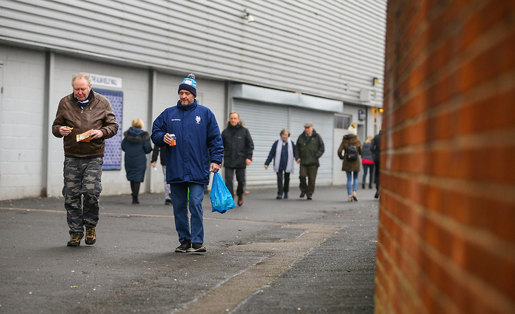 Preston North End fans arrive at Deepdale before the match<br /> <br /> Photographer Alex Dodd/CameraSport<br /> <br /> The Emirates FA Cup Third Round - Preston North End v Doncaster Rovers - Sunday 6th January 2019 - Deepdale Stadium - Preston<br />  <br /> World Copyright © 2019 CameraSport. All rights reserved. 43 Linden Ave. Countesthorpe. Leicester. England. LE8 5PG - Tel: +44 (0) 116 277 4147 - admin@camerasport.com - www.camerasport.com