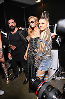 MILAN, IT - SEPTEMBER 21: Paris Hilton and Fergie backstage at Philip Plein fashion show during Milan Fashion Week ss17 on September 21, 2016 Credit: GOL/Capital Pictures/MediaPunch ***NORTH AND SOUTH AMERICAS ONLY***