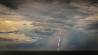 Coolangatta, Queensland, Australia.(Friday, January 29, 2016): Two converging weather fronts, one form eh North West and one from the South formed into a Supercell thunderstorm with driving rain and thunder and lightning. The thunder rolled continuously fro more than an hour while there was massive lightning strikes up and down the Gold Coast before the storm moved out to sea.Photo: joliphotos.com