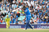 Virat Kolli (India) plays a glorious lofted drive over extra cover for four during India vs Australia, ICC World Cup Cricket at The Oval on 9th June 2019