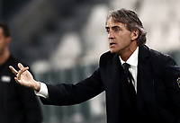 International friendly football match Italy vs The Netherlands, Allianz Stadium, Turin, Italy, June 4, 2018. <br /> Italy's national team coach Roberto Mancini gestures during the international friendly football match between Italy and The Netherlands at the Allianz Stadium in Turin on June 4, 2018.<br /> UPDATE IMAGES PRESS/Isabella Bonotto
