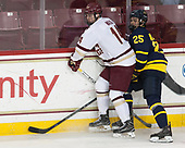 Zach Walker (BC - 14), Sami Tavernier (Merrimack - 25) - The visiting Merrimack College Warriors defeated the Boston College Eagles 6 - 3 (EN) on Friday, February 10, 2017, at Kelley Rink in Conte Forum in Chestnut Hill, Massachusetts.