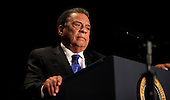 Former United States Ambassador to the United Nations Andrew Young makes remarks at the National Prayer Breakfast at the Washington Hilton Hotel in Washington, D.C. on February 5, 2015.  U.S. and international leaders from different parties and religions gather annually at this event for an hour devoted to faith and prayer.<br /> Credit: Dennis Brack / Pool via CNP