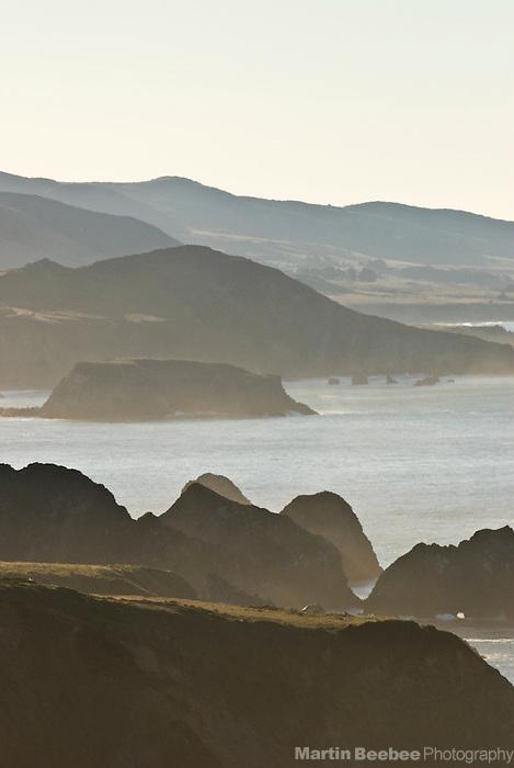 The misty, rugged, Sonoma County coastline, California