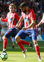 Atletico de Madrid's Antoine Griezmann (l) and Diego Costa during La Liga match. April 8,2018. (ALTERPHOTOS/Acero) /NortePhoto NORTEPHOTOMEXICO