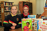 "Aoife Walsh and Lauren Devine from Presentation School Ballymakenny Road at the ""Drogheda Counts"" workshop in the Library...Photo NEWSFILE/Jenny Matthews..(Photo credit should read Jenny Matthews/NEWSFILE)"