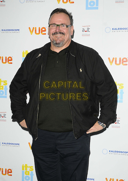 Stephen Marcus<br /> The &quot;It's A Lot&quot; UK film premiere, Vue West End cinema, Leicester Square, London, England.<br /> October 21st, 2013<br /> half length black jacket top glasses goatee facial hair<br /> CAP/CAN<br /> &copy;Can Nguyen/Capital Pictures