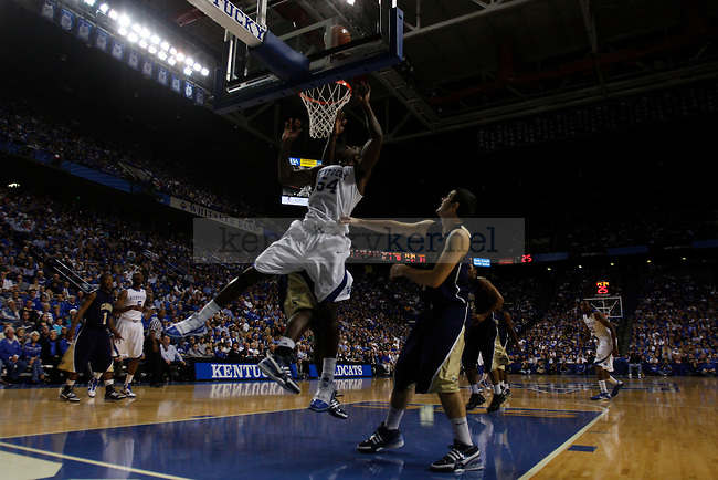 Junior forward Patrick Patterson battles for the rebound against Clarion at Rupp Arena on Friday, Nov. 6, 2009. The Wildcats won 117-52 over the Golden Eagles. Photo by Scott Hannigan | Staff