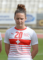 20180305 - LARNACA , CYPRUS : Swiss Thais Hurni pictured during a women's soccer game between Switzerland and Wales , on monday 5 March 2018 at GSZ Stadium in Larnaca , Cyprus . This is the third game in group A for Switzerland and Wales during the Cyprus Womens Cup , a prestigious women soccer tournament as a preparation on the World Cup 2019 qualification duels. PHOTO SPORTPIX.BE | DAVID CATRY