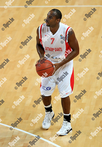 2010-10-05 / Basketbal / seizoen 2010-2011 / Euro Challenge / Antwerp Giants - Minsk / Bryan Hopkins..Foto: Mpics