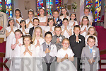 Children from Firies NS who received their First Holy Communion in St Gobnait's church Firies on Saturday morning