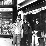 KINKS 1966 Pete Quaife, Mick Avory,Ray Davies and Dave Davies in  London's Carnaby Street..© Chris Walter..