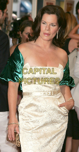 """MARCIA GAY HARDEN.At the """"Bad News Bears"""" Film Premiere held at the Ziegfeld Theatre, New York City, NY, .USA, July 18th 2005..half length off the shoulder cream green dress strapless.Ref: ADM.www.capitalpictures.com.sales@capitalpictures.com.©Alec Cole/AdMedia/Capital Pictures."""