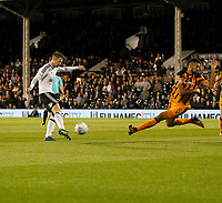Oliver Norwood of Fulham shapes to shoot during the Sky Bet Championship match between Fulham and Hull City at Craven Cottage, London, England on 13 September 2017. Photo by Carlton Myrie.