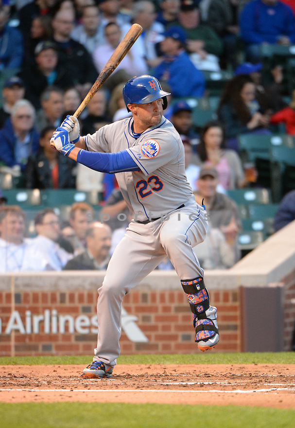 New York Mets Michael Cuddyer (23) during a game against the Chicago Cubs on May 11, 2015 at Wrigley Field in Chicago, IL. The Cubs beat the Mets 4-3.