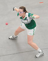 20th September 2014; <br /> Martina McMahon of Limerick.<br /> M Donnelly All-Ireland Ladies 60x30 Handball Singes Final<br /> Catriona Casey (Cork) v Martina McMahon (Limerick) . <br /> Abbeylara, Co Longford<br /> Picture credit: Tommy Grealy/actionshots.ie