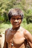 PHILIPPINES, Palawan, Barangay region, Batak man Rudolfo de la Cruz makes charcoal in the small village Purok Tarabidan