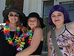 Mary Holland, Sailor Lee and Laurena Hamilton attend the Northern Nevada Pride Parade and Festival in Reno on Saturday, July 23, 2016.