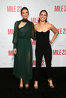 "WESTWOOD, CA - AUGUST 9: Lauren Cohan, Ronda Rousey, at Premiere Of STX Films' ""Mile 22"" at The Regency Village Theatre in Westwood, California on August 9, 2018. Credit: Faye Sadou/MediaPunch"