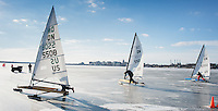 """Gentlemen, Start Your Ice Boats""  Lake Monona  Madison, Wisconsin 