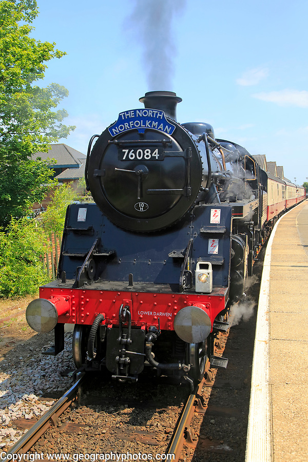 Heritage steam railway, Cromer station, North Norfolk Railway, England, UK - The North Norfolkman