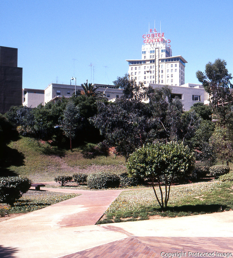San Diego: San Diego Federal Plaza. El Cortez in background.