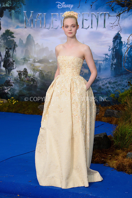 ACEPIXS.COM<br /> <br /> May 8 2014, London<br /> <br /> Elle Fanning at a private reception as costumes and props from Disney's 'Maleficent' are exhibited in support of Great Ormond Street Hospital at Kensington Palace on May 8, 2014 in London<br /> <br /> By Line: Famous/ACE Pictures<br /> <br /> ACE Pictures, Inc.<br /> www.acepixs.com<br /> Email: info@acepixs.com<br /> Tel: 646 769 0430