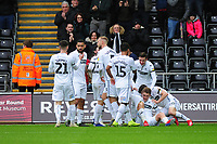George Byers (2nd right) of Swansea City celebrates scoring the opening goal during the Sky Bet Championship match between Swansea City and Millwall at the Liberty Stadium in Swansea, Wales, UK. Saturday 09 February 2019