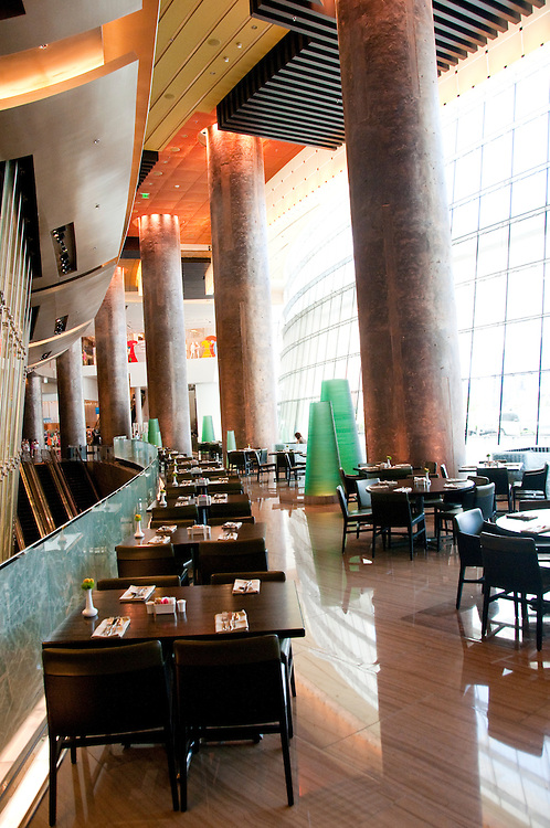 USA Las Vegas, Aria resort on the Strip, with its emphasis on design and outdoor pools. Design of Cafe Vettro.