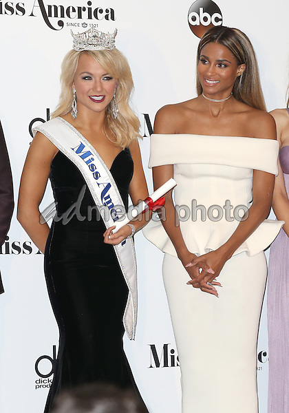 11 September 2016 - Atlantic City, New Jersey - 2017 Miss America Savvy Shields, Ciara.  2017 Miss America Savvy Shields holds her first press conference at Boardwalk Hall.  Photo Credit: MJT/AdMedia