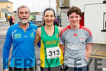 Denis, Sharon and Eoin Cahill at the start of the Kerry's Eye Tralee, Tralee Half Marathon on Saturday.