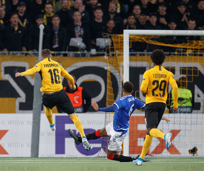 03.10.2019 Young Boys of Bern v Rangers: Christian Fassnacht scores the winner