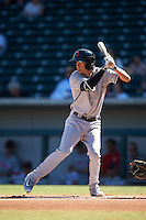 Scottsdale Scorpions Tyler Wade (41), of the New York Yankees organization, during a game against the Mesa Solar Sox on October 21, 2016 at Sloan Park in Mesa, Arizona.  Mesa defeated Scottsdale 4-3.  (Mike Janes/Four Seam Images)