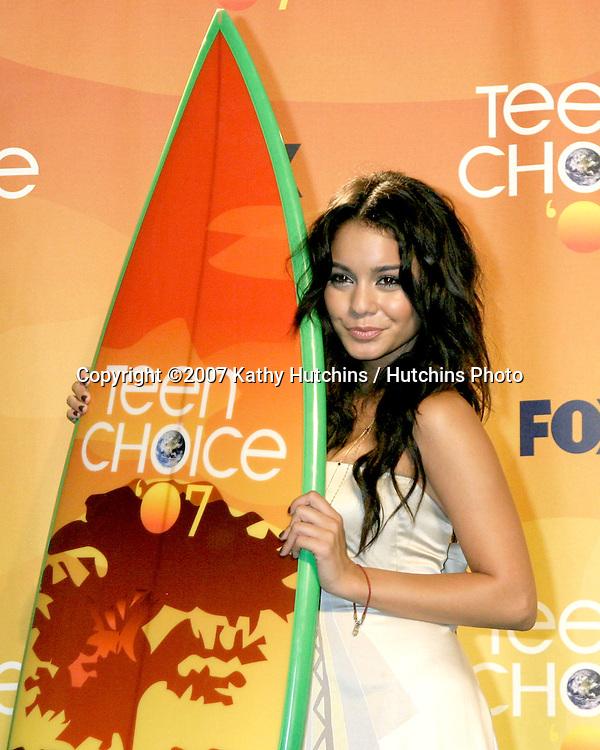 Vanessa Hudgens.Teen Choice 2007.Gibson Amphitheatre.Universal Studios.Los Angeles,  CA.Aug 26, 2007.©2007 Kathy Hutchins / Hutchins Photo....