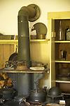 Dudley Farm House Museum, Guilford, CT. Antique kitchen