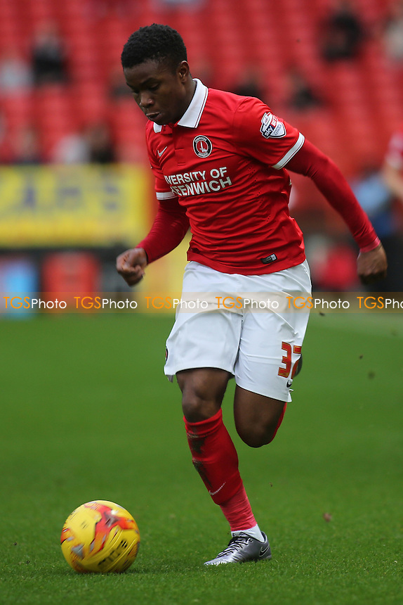 Ademola Lookman of Charlton in action during Charlton Athletic vs Wolverhampton Wanderers, Sky Bet Championship Football at The Valley, London, England on 28/12/2015
