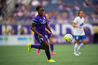 Orlando, FL - Sunday July 10, 2016: Jamia Fields during a regular season National Women's Soccer League (NWSL) match between the Orlando Pride and the Boston Breakers at Camping World Stadium.