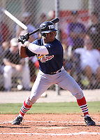 Jamal Martin during the World Wood Bat Association Championships at Roger Dean Sports Complex on October 23, 2011 in Jupiter, Florida.  (Stacy Grant/Four Seam Images)