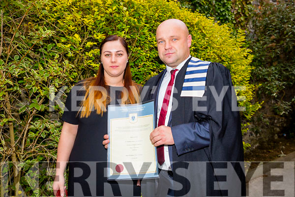 At the ITT Conferring Ceremony in the Brandon Hotel on Thursday were Mariola Gwarek with Robert Gwarek who recieved a Post Graduate Diploma in Business Adminstration