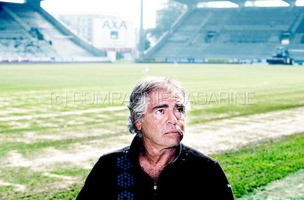 Former Spanish football player Juan Lozano in the stadium of Germinal Beerschot, where he started his professional career in 1973 (Belgium, 23/05/2012)