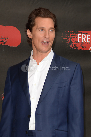 LOS ANGELES, CA - MAY 11: Matthew McConaughey at the photo call for STX Entertainment's 'Free State Of Jones' at the Four Seasons Hotel Los Angeles at Beverly Hills on May 11, 2016 in Los Angeles, California. Credit: David Edwards/MediaPunch