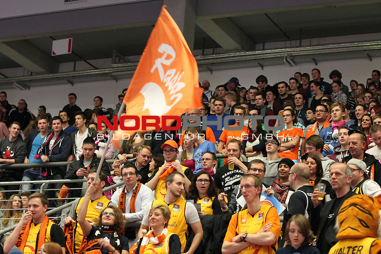 18.01.2014, Telekom Baskets Dome, Bonn, GER, BBL, Allstar Day 2014 Team National vs. Team International, im Bild<br /> Fans von Rasta Vechta <br /> <br /> Foto &copy; nordphoto / Mueller