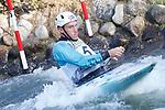 28th September 2019; Canal Olimpic del Segre, La Seu d'Urgell, Catalonia, Spain; ICF Canoe Slalom, World Championships, MC1 Men's Canoe canoe. Picture show Luka Bozic (SLO) in action
