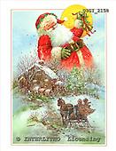 GIORDANO, CHRISTMAS SANTA, SNOWMAN, WEIHNACHTSMÄNNER, SCHNEEMÄNNER, PAPÁ NOEL, MUÑECOS DE NIEVE, paintings+++++,USGI2158,#X#