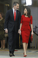 MADRID, SPAIN - JANUARY 10: King Felipe VI of Spain and Queen Letizia of Spain attend the National Sports Awards 2017 at the El Pardo Palace on January 10, 2019 in Madrid, Spain.  ***NO SPAIN***<br /> CAP/MPI/RJO<br /> &copy;RJO/MPI/Capital Pictures