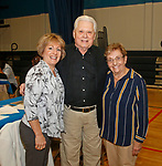 Waterbury, CT 102117MK11 (from left) Robin Guisti, Bob Cheezic and Terri Delaurentis gathered at the Steak & Burger Dinner - Come Back to the Club celebration at the Boys & Girls Club of Greater Waterbury on Thursday evening.   Michael Kabelka / Republican-American