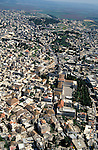 Israel, Lower Galilee, the Church of the Annunciation at the heart of Nazareth, an aerial view