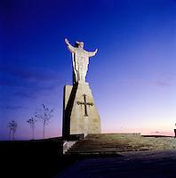 The Sacred Heart of Jesus statue on Mount Naranco, Oviedo, Asturias, Spain